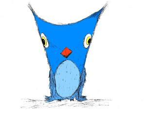 Lafayette Wattles Blue Owl Sketch