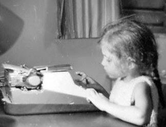 A Young Elizabeth Wein Typing