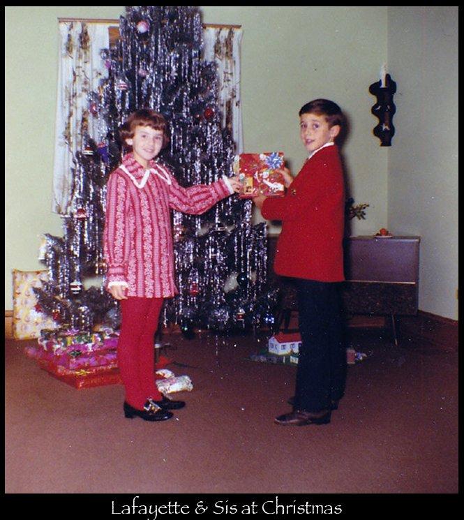 Lafayette & Sis at Christmas