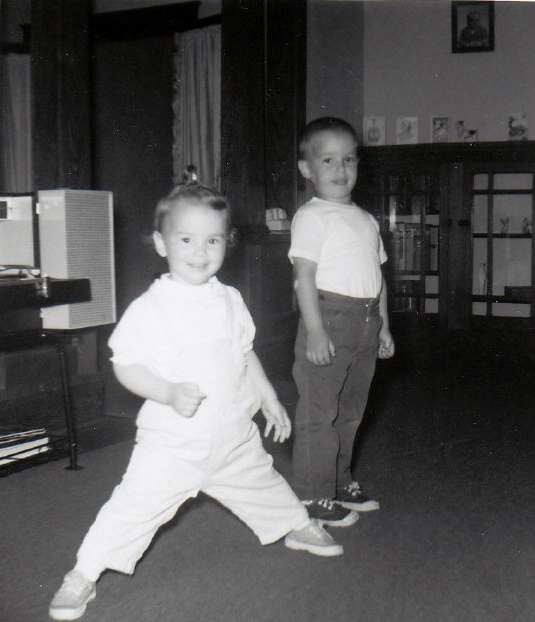 Lafayette Wattles & His Sister Doing Ninja Training