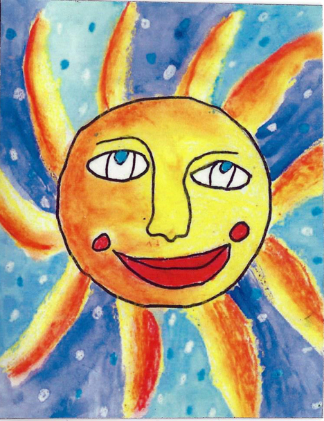 Sun by eight-year-old
