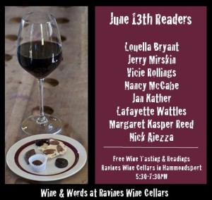 Wine & Words at Ravines Wine Cellars