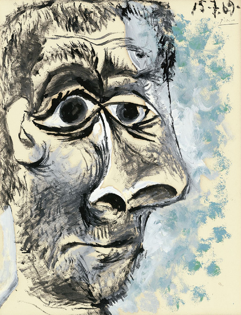 Pablo Picasso - Tête d'Homme (1969) by Cea