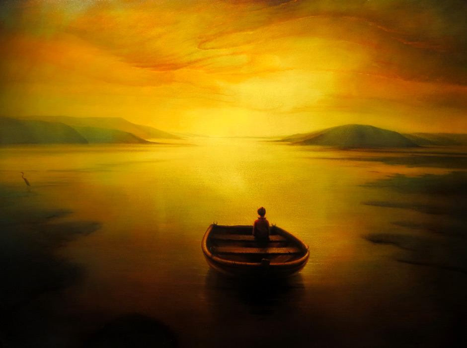 Boat and Boy by Peter van Straten